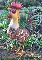 Randall the Large Metal Rooster 60cm (x4)