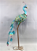 Penelope the Large Metal Peacock 55cm