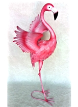 Flora the Winged Metal Flamingo 70cm