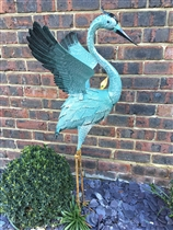 Harold the Blue Metal Heron 102cm