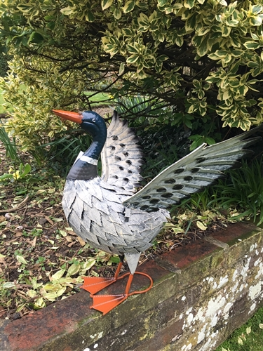 Donald The Winged Metal Duck Garden Ornament