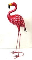 Flavia the Large Metal Flamingo 89cm