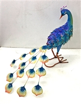 Poppy the Sitting Metal Peacock 55cm