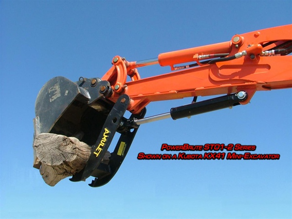 Amulet POWERBRUTE Hydraulic Excavator Thumb for 1-3