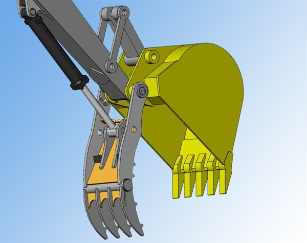 Amulet Powerclamp Hydraulic Excavator Thumb For 1 5 3 Ton