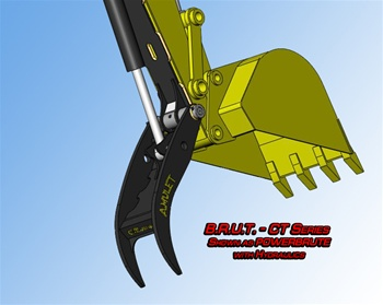 Amulet POWERBRUTE Hydraulic Bucket Thumb for 20 Ton Excavators