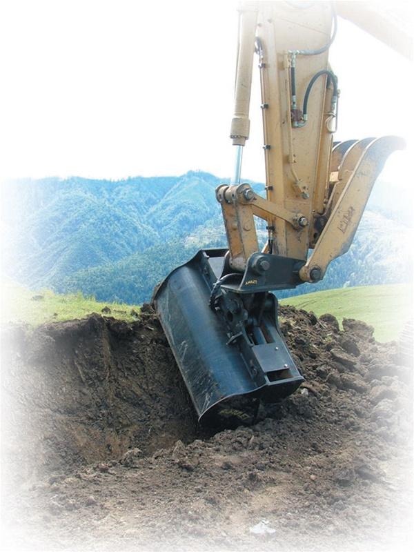 Amulet Tilt Bucket For 12 5 15 Ton Excavators 45 Degree Tilt