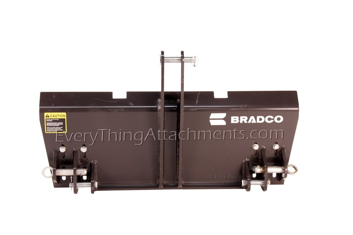 Bradco 3 Point Hitch To Skidsteer Universal Hitch