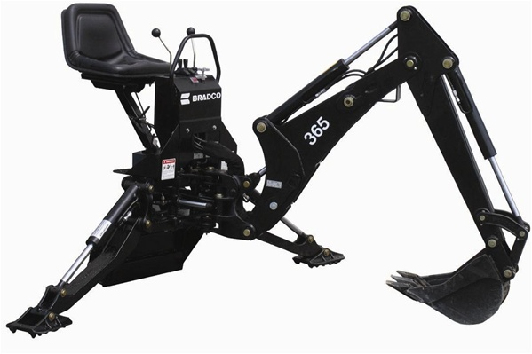 3 Point Hitch Backhoe Attachments : Bradco compact tractor backhoe model point hitch