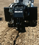 Bradco Mini Skid Steer Vibratory Plow, Model VP10, 10 to 14 GPM