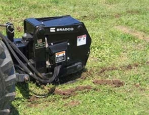 Bradco Tractor 3 Point, Category 1, Vibratory Plow, Model VP10, 8 to 11 GPM