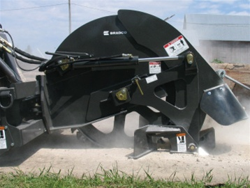 """Trencher For Sale >> Bradco 18"""" Skid Steer, Skidsteer, Rock Saw 22-44 GPM"""