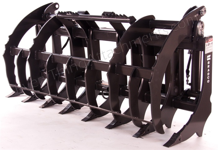 Heavy Duty Root Rake Grapple for Large Tractor Loaders