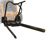Bradco Hydraulic Tree Forks for Skid Steer, Skidsteer, Universal Skid Steer Quick Attach