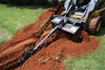 "Bradco 30"" Skid Steer, Skidsteer, Trencher Model 625, Cup Tooth Every Other Station Universal Skid Steer Quick Attach"
