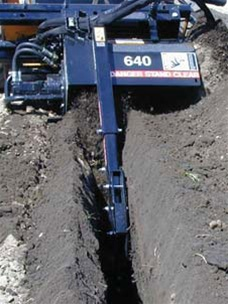 "Bradco 48"" Skid Steer, Skidsteer, Trencher Model 640, Planetary, Cup Tooth Every Station, TES, Universal Skid Steer Quick Attach"