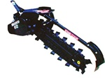 "Bradco 48"" Hydrostatic Tractor PTO, Trencher Model 612, with Agressive 70/30 Shark teeth, cup teeth"