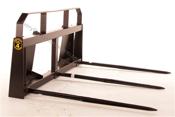 Triple spear wide frame bale mover from Construction Attachments