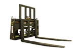 Construction Attachments Xtreme Duty Skid Steer Quick Attach Hydraulic Adjustable Heavy Lift Pallet Forks