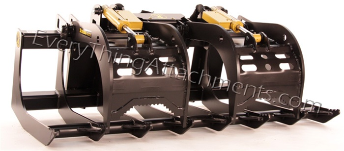 Construction Attachments XTreme Duty Root Grapple For Skid Steers