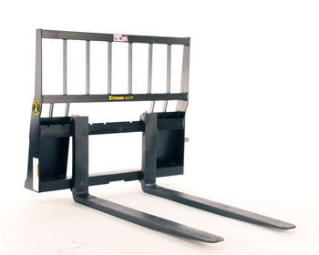 Construction Attachments XTreme Duty, Skid Steer, Skidsteer, Standard Frame, Regular Lift, Pallet Forks 1PF