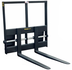 Construction Attachments X-Treme Duty Skid Steer, Skidsteer, Industrial Heavy Lift Pallet Forks 1PFINDHL