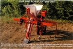 Covington TP-46 Single Row Planter mounted on a Pittsburgh style cultivator with five rigid shanks