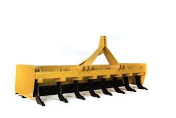 Heavy duty Tractor box scraper with lockable floating tailgate.