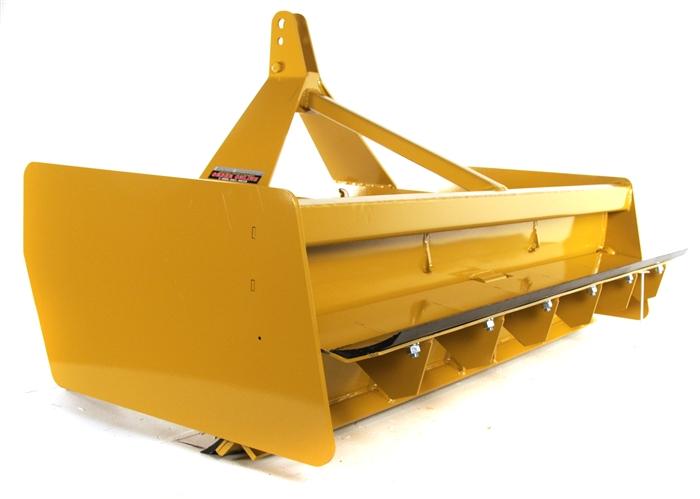 Heavy duty box blade box scraper with lockable floating tailgate