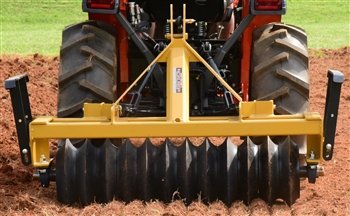 Everything Attachments 4ft Cultipacker, with Category 1 clevis type hitch and 15in smooth wheels quick hitch compatible