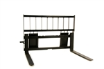 Wide Frame Heavy Duty Skid Steer Pallet Forks