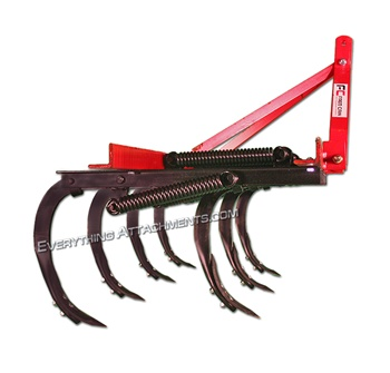 Fred Cain Tractor 7 Fred Cain 3 Point Field Cultivator, Ripper, Tillage Tool. Chisel Plow