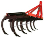 We have the Fred Cain Tractor 9 Shank 3 Point Field Cultivator, Ripper, Tillage Tool, jitterbug, field plow, Bermuda grass plow