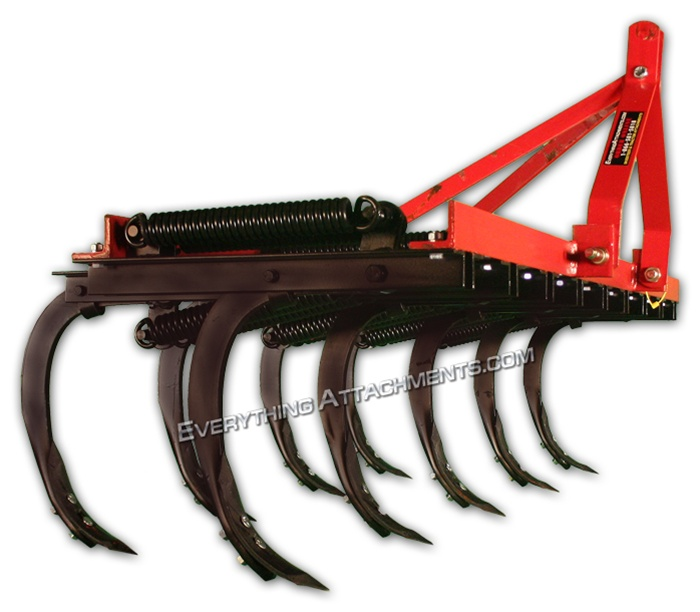 Fred Cain 9 Shank Tractor 3 Point Field Cultivator, Ripper, Tillage Tool