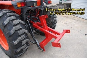 Fred Cain Tractor 3 point Hitch Scissor High Lift Hay Lift #3F