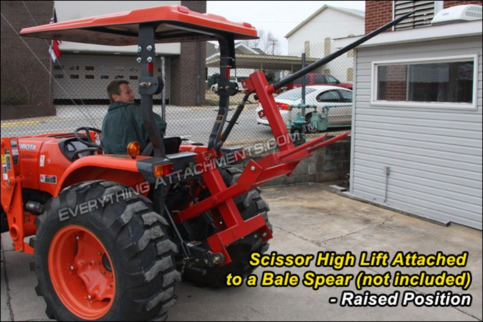 3 Point Hitch Forklift Attachment : Fred cain tractor point hitch scissor high lift hay