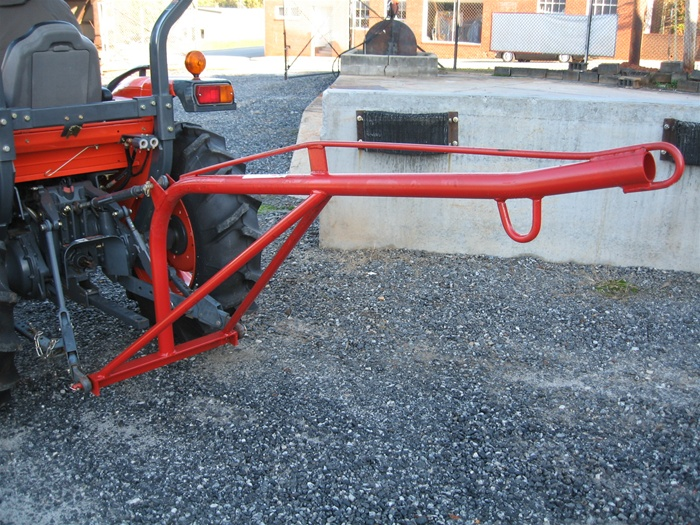 Tractor 3 Pt Lift : Fred cain tractor boom pole rear mounted crane lift