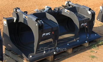 "FFC 66"" Utility Scrap Grapple, Solid Bottom Grapple Bucket"