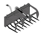 FFC Manure Fork with Grab for Compact tractor loaders