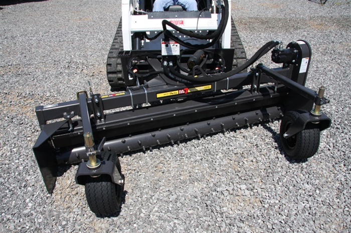 Harley Rake, Skid Steer Power Box Rake MX8H 96 Hydraulic Angle