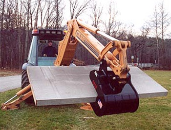 Kenco Backhoe Slab Crab Attachment