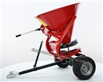 King Kutter ATV Seeder Spreader is a pull type unit with metal hopper