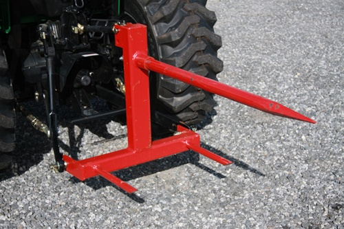 Tractor 3 Pt Lift : Fred cain tractor point f hay bale spear mover