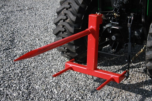 Hay Scissor Fork Lift : Fred cain tractor point f hay bale spear mover