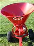 Agrex Pull Type, Ground Driven Spreader SP150 Cone style Broadcast Spreader