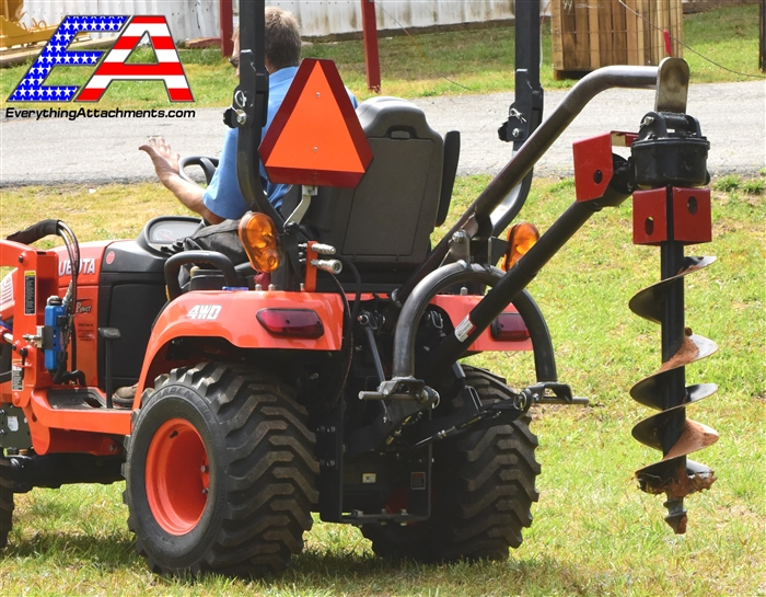 Compact Tractor 3 Point Post Hole Digger