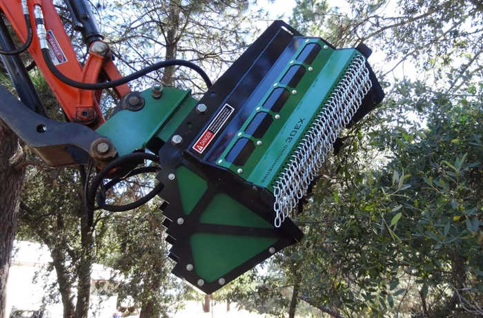 Rockhound Brushhound Model 30ex Brush Mower Shredder For