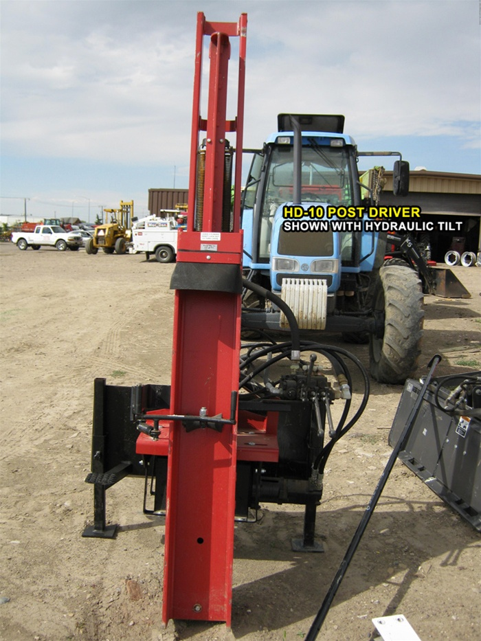 Shaver HD-10 Tractor Post Driver - 3 point Hitch Category 1