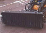 "Sweepster Skid Steer, Skidsteer, Hydraulic Angle Change Broom, 60"" Poly/Wire Brush model QCSS"
