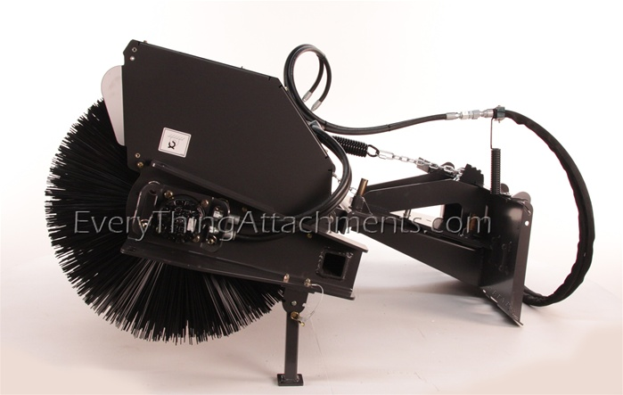 Sweepster Skid Steer Skidsteer Hydraulic Angle Change Broom 84 Quot Poly Wire Brush Model Qcss
